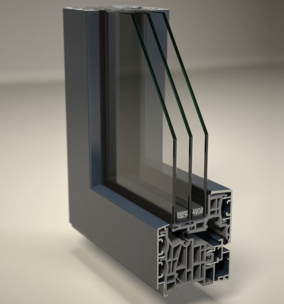 Finstral finestre in alluminio pvc ad alto isolamento - Profili alluminio per finestre ...