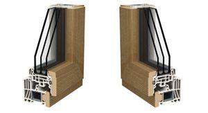 Profili per finestre pvc legno Lignatec 200