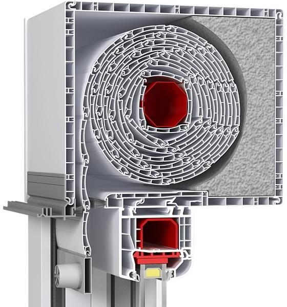Finestre monoblocco isolante per tapparelle piesseti for Finestre pvc con tapparelle